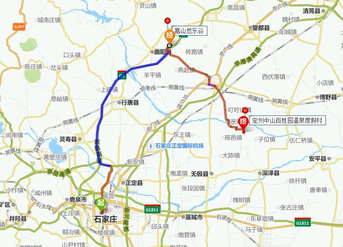 曲阳县详细地图
