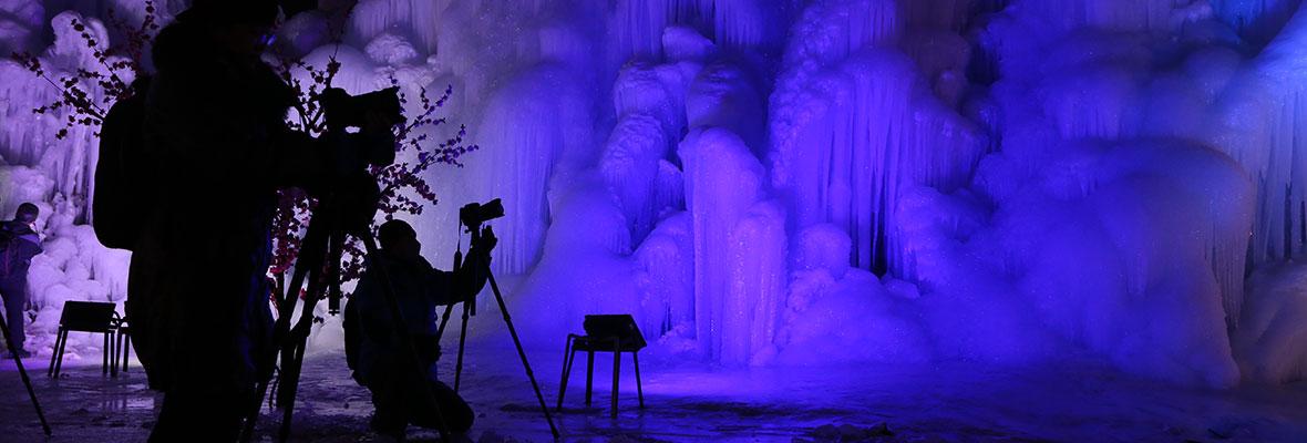 观冰瀑赏冰灯~自驾去平山沕沕水咯~